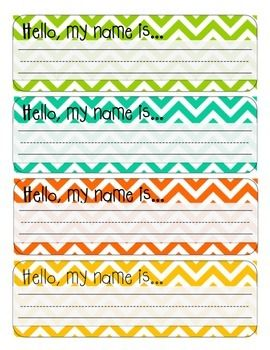 These chevron desk name tags will be the perfect addition to any chevron-themed classroom! These name tags come in 8 different colors, so no matter what your color scheme is, there should be a color to match! Just print, write your students' names, and attach to their desks!