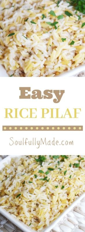 Want an Easy Rice Pilaf recipe?  Are you still making it from a box? Time to kiss that boxed stuff goodbye!  Not only is this easy but it's Delish-IOUS!  A perfect side dish for any meal!