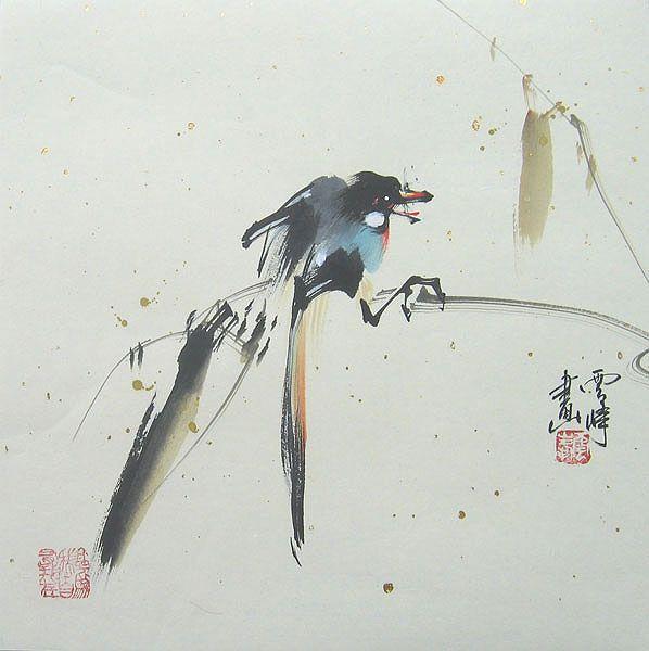 Chinese bird paintings - Single Bird