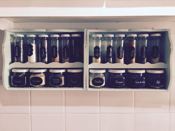 Detalles de mi hogar Mi cocina  Especiero Carmelita  Facebook: Sol Echevarría  @solechevarria