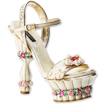 Dolce and Gabbana Cake Inspired Shoe….@Kerri Kobus could you make a shoe inspired cake topper like this? :p