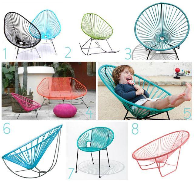la silla acapulco muebles para nueva casa pinterest id es terrasse motifs africains et. Black Bedroom Furniture Sets. Home Design Ideas