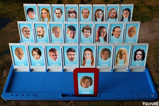 Yes!! DIY Game of Thrones Guess Who. Play Vulture's Game of Thrones 'Guess Who?' -- Vulture