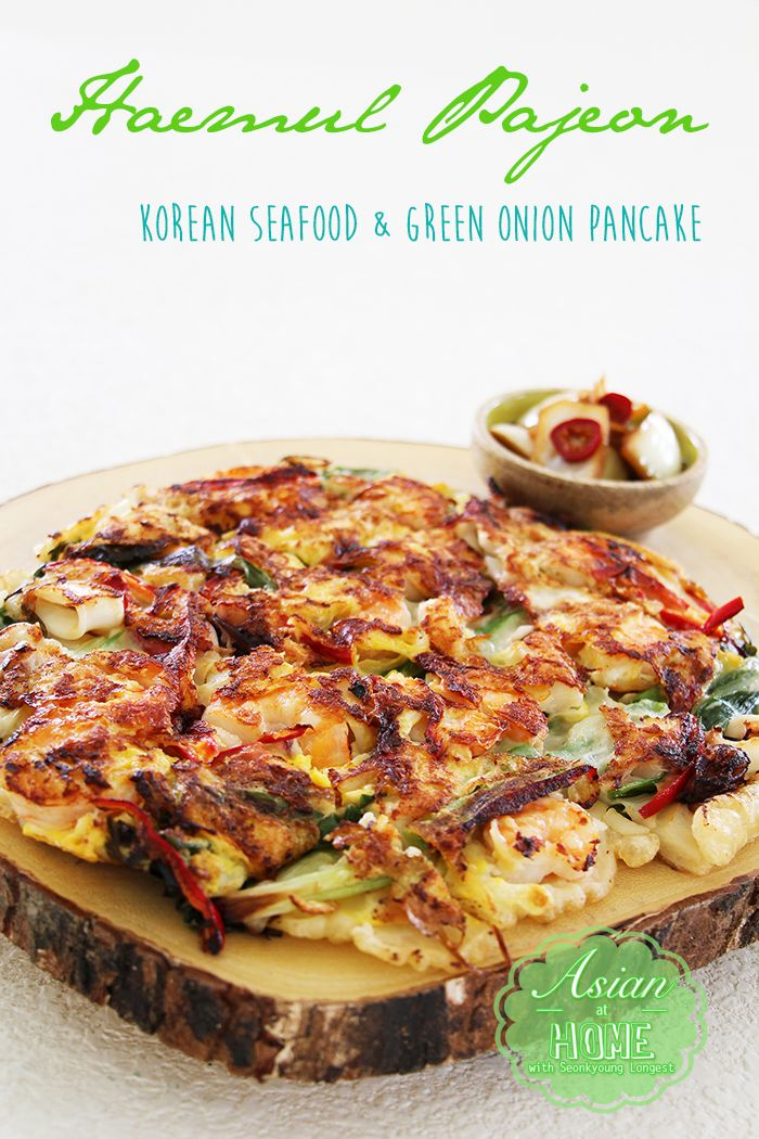 Haemul Pajeon : Korean Seafood & Green Onion Pancake - Asian at Home