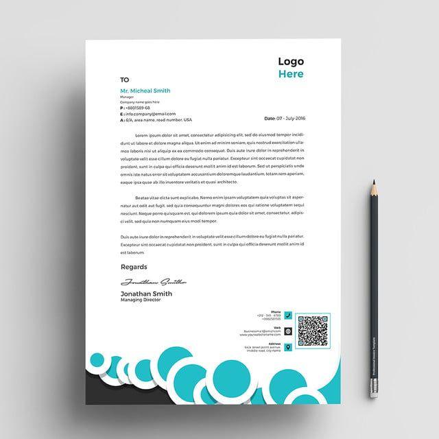 قالب ترويسة الشركة Letterhead Letterhead Template Letterhead Design