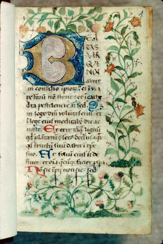Bibliothèque municipale de Chalon-sur-Saône - ms. 0026, f. 001 Diurnal cistercien / Initiale ornée « cliché CNRS - IRHT »