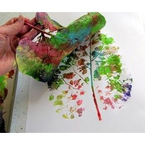 This would be fun to do with the kids.Leaf Painting, Fall Leaves, Crafts Ideas, Leaf Prints, Fall Crafts, Kids Crafts, Three, Leaf Art, Art Projects