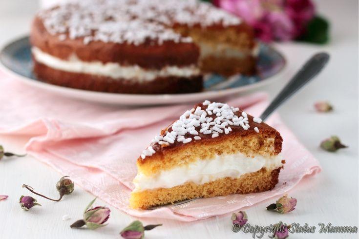 Torta paradiso con crema al latte ricetta