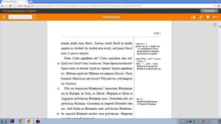 Lingua Latina per se Illistrata, Pars I: Familia Romana. Capitulum I.