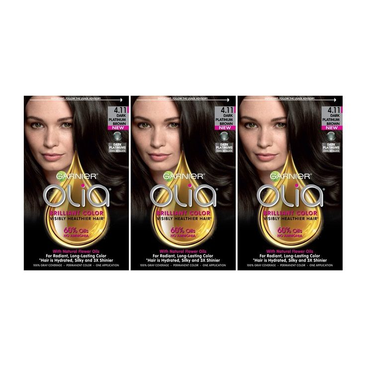 Garnier Hair Color Olia Oil Powered Permanent Hair Color, 4.11 Dark Platinum Brown, 3 Count -- More info could be found at the image url. #hairdressing
