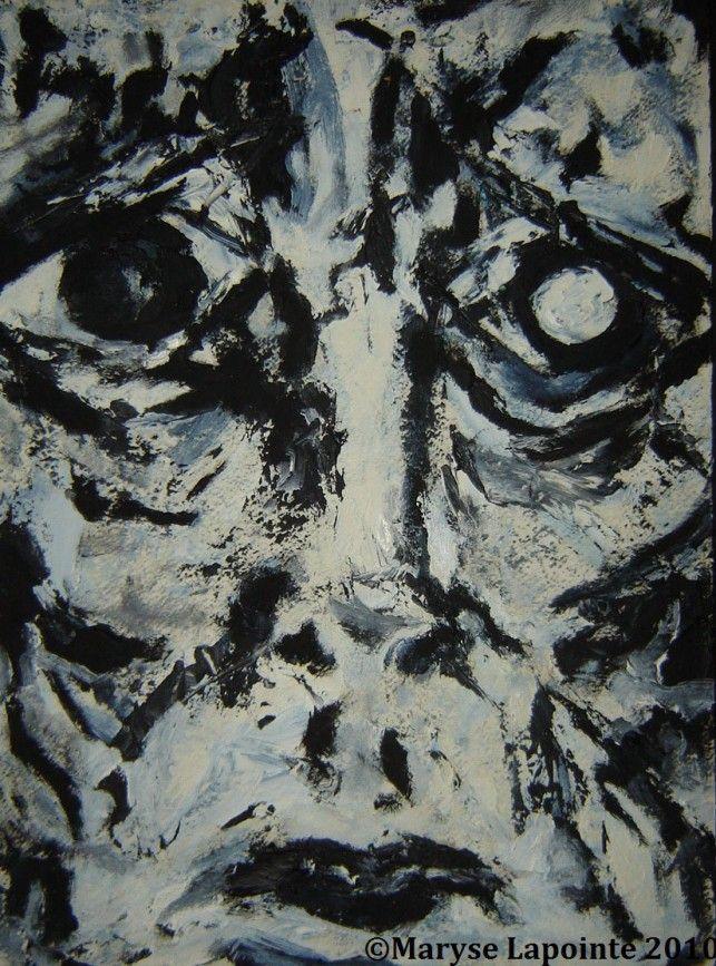 Post Mortem # 2 Huile/papier 12 x 9 po. (30 x 22 cm) Collection privée #expressionnism, #expressionnisme, #Munch, #painting