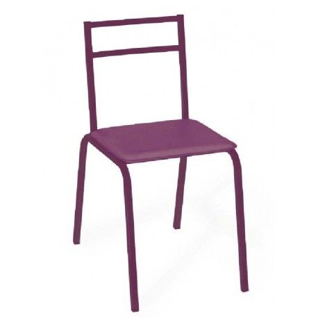 Pack de cuatro sillas para cocina o comedor con estructura metálica , recubrimiento epoxi-poliester tapizadas en pvc lavable colores diponibles blanco , negro y berengena.