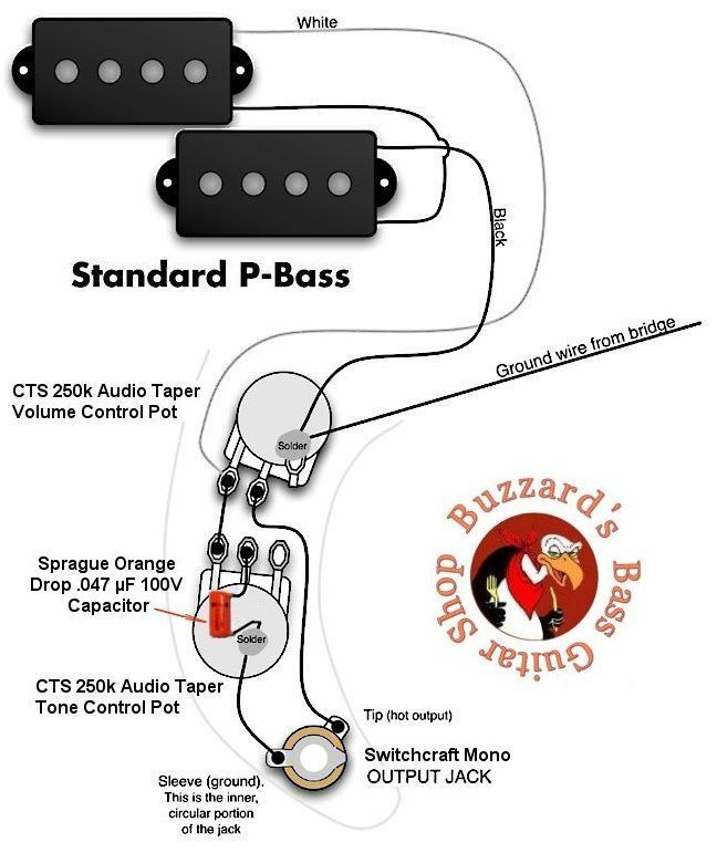 P-Bass wiring diagram | Electric bass, Guitar tabs and ...