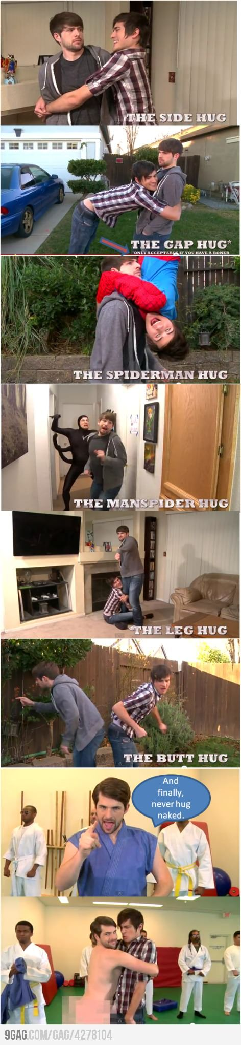 "Ajajajajaja!! All the hugs from ""The Guy's Guide to Hugging Guys""."