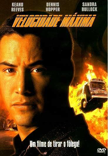 Dirigido por Jan de Bont, Speed (Velocidade Máxima) tem no elenco Keanu Reeves,Dennis Hopper e Sandra Bullock