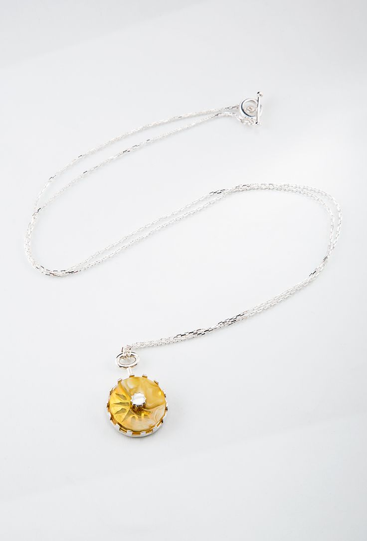 Stella Polaris Necklace // Silver, amber   #jewellery #silver #melancholia #necklace #amber