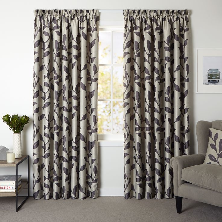 Beaumont Ash - Readymade Lined Pencil Pleat Curtain - Curtain Studio buy curtains online