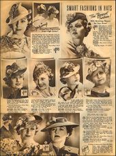 Ladies Hats/Sears Catalog, 1937