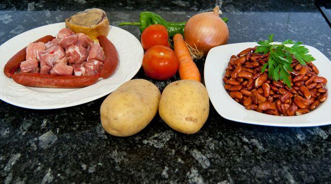 Potaje de alubias rojas con costilla y chorizo - La Cocina de Virginia