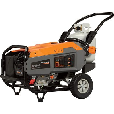 FREE SHIPPING — Generac LP5500 Portable Propane Generator — 6875 Surge Watts, 5500 Rated Watts, CARB Compliant, Model# 6001