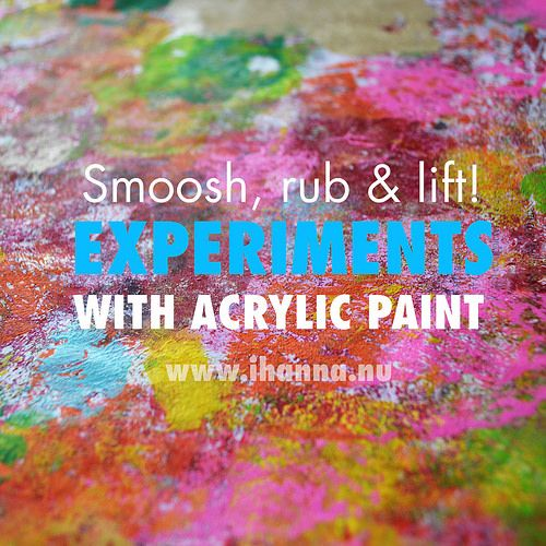 Smooch rub and lift experiments with acrylic paint by for Acrylic background techniques