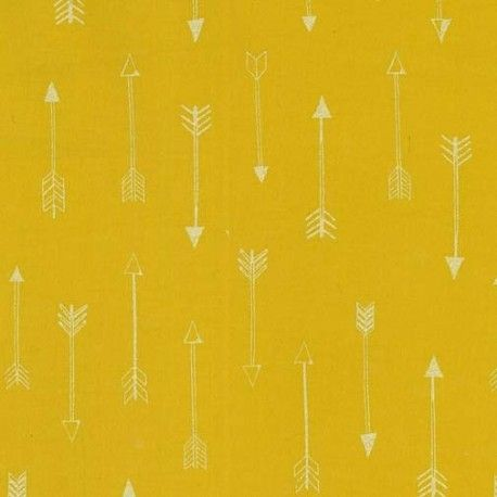 Tissu  Arrows - gold  x 10cm