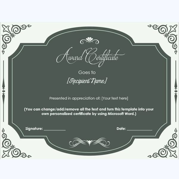 Award certificate templates 99 pinterest award certificate 08 yelopaper Image collections