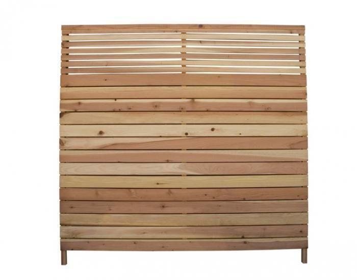 6x6 39 Redwood Flat Top Wood Fence Panel Lowe 39 S Each