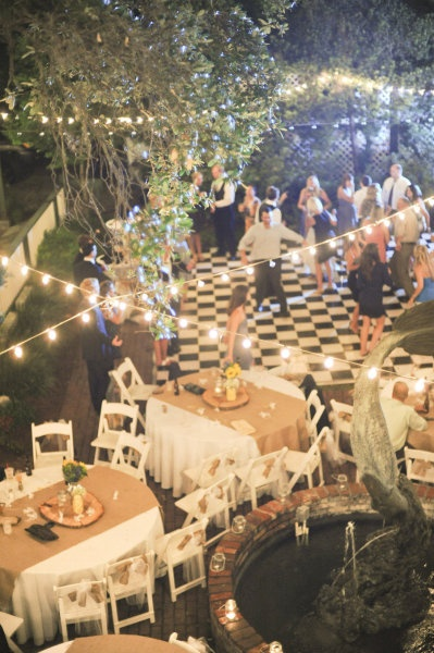 EEK! String lights has always been something I love. Using them for a wedding or reception would be lovely. Love this dance floor too.