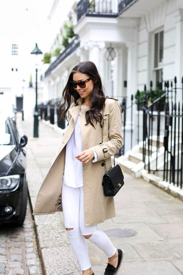 Classic Trench in Chelsea - Burberry trench Soludos espadrilles c/o // Topshop jeans Vintage Chanel // Velvet top c/o // Celine sunglasses Thursday, June 25, 2015