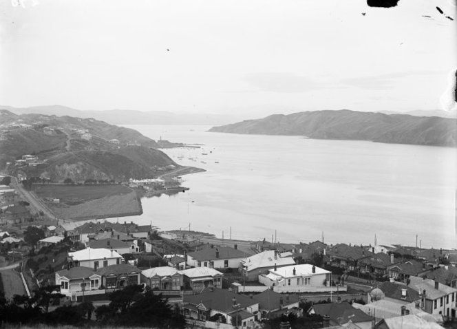 Looking over Kilbirnie and Evans Bay, Wellington
