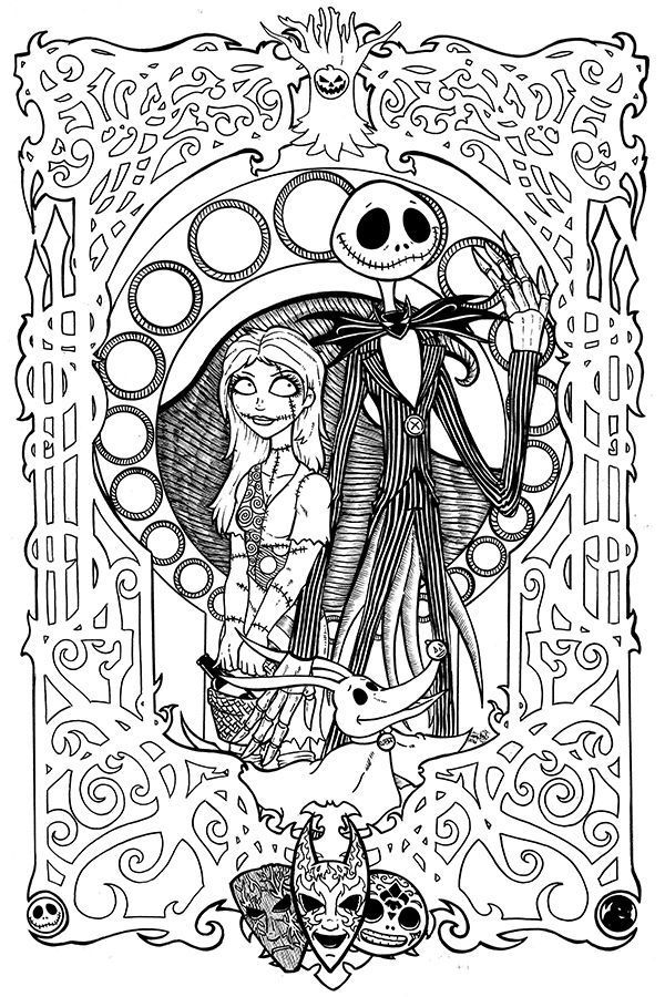 Nightmare Before Christmas Coloring Book Halloween Coloring Pages Christmas Coloring Pages Disney Coloring Pages