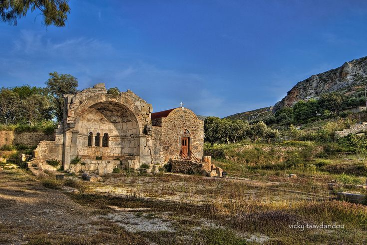 Greece, Kalymnos - ancient ruins of Jesus of Jerusalem and the temple of Dilos…