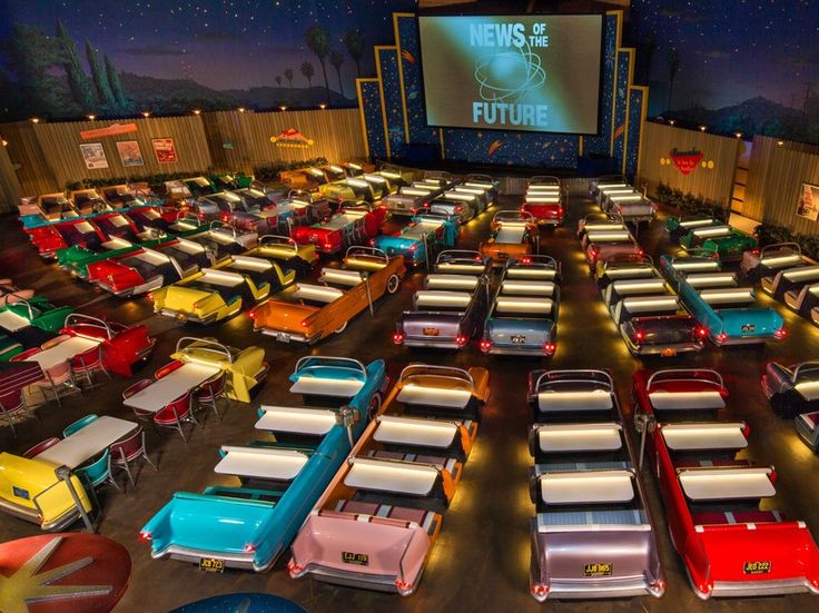 There's definitely something other-worldly going on at the Sci-Fi Dine-In Theatre Restaurant at Walt Disney World's Hollywood Studios—and it's not just the sci-fi movie roll. That magical feeling comes by way of a total immersive recreation of a 1950s drive-in movie theater, complete with custom car booths that serve as a table for your meal. The short clips of oddly transfixing sci-fi classics fade into the background as the real special effect becomes the sense of time traveling.