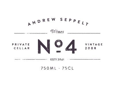 No.4 in Vintage Type Lockup