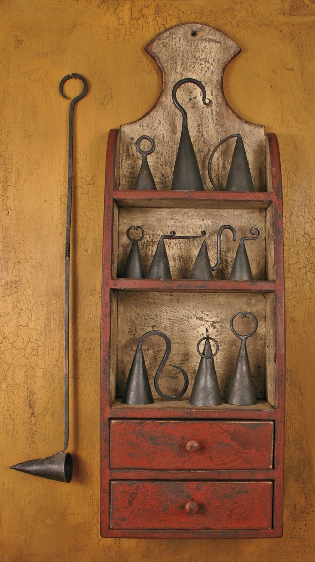 antique candle snuffers - you can build a pleasing collection display of anything!