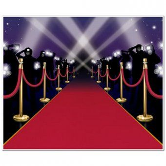Insta-Mural Red Carpet Wall Scene Setter Decoration