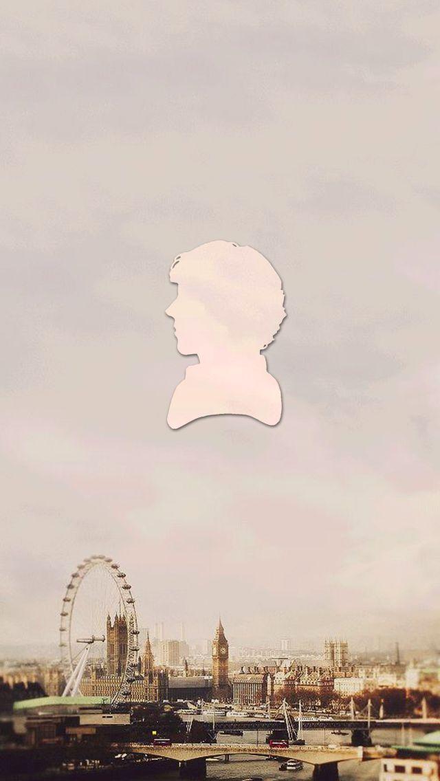 Sherlock silhouette iPhone 5 wallpaper