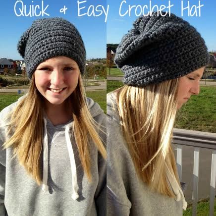 Easy Crocheted Hat - How to Crochet Video - Quick & Easy! #DIY #Crochet