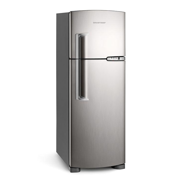 Refrigerador Brastemp Clean BRM39EK 352 litros 2 portas Frost Free Platinum - Brastemp com o melhor preço é no Walmart!