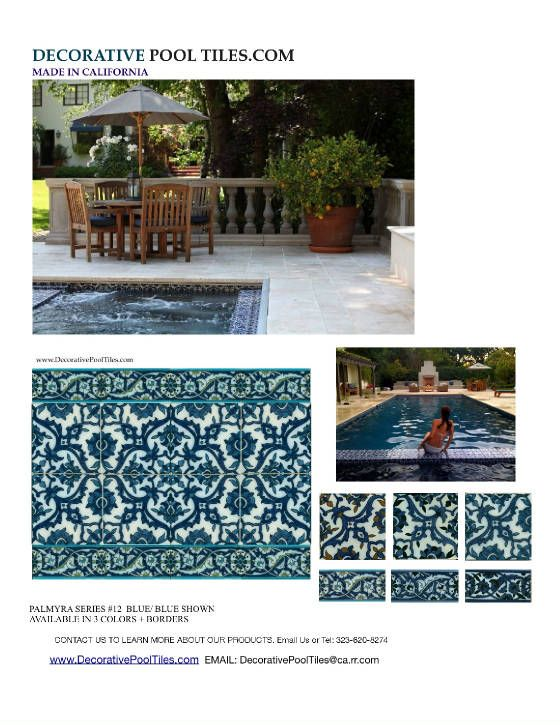 Decorative Pool Tiles Adorable 27 Best Waterline Pool Tiles & Pool Liners Images On Pinterest Decorating Design