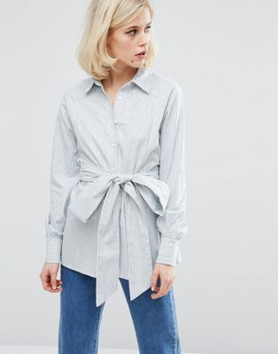 Lost Ink Soft Laundered Shirt In Stripe