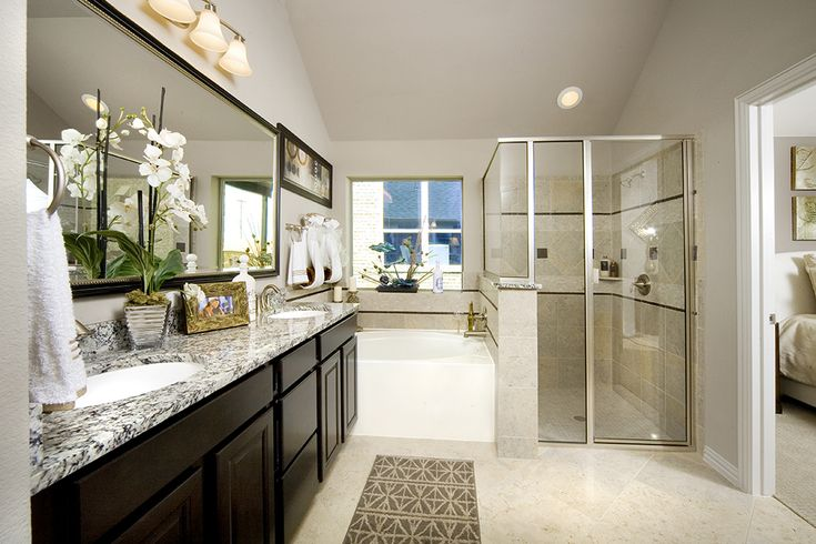 Gehan Homes Master Bathroom Brushed Nickel Hardware