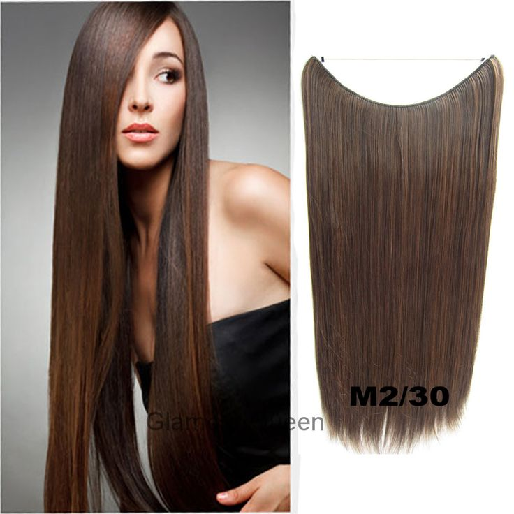 100g 24 inch,No Clip Hair Extensions Synthetic Weave Hairpieces Straight Long Secret Extensions Hair Piece,32 Colors