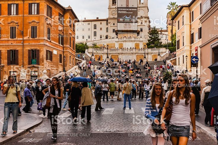Rome, Italy - Spanish Steps or Piazza di Spagna royalty-free stock photo