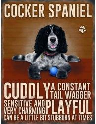 Cocker Spaniel Hanging Metal Sign