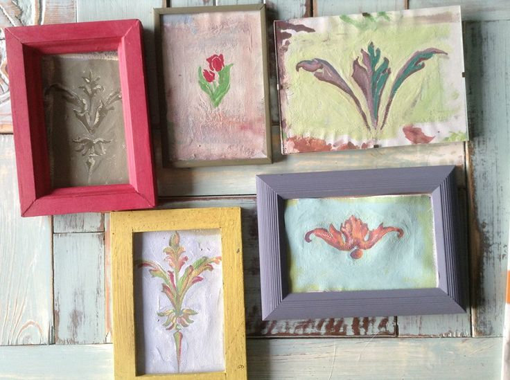 Om wat kleurinspiratie op te doen heb ik mini schilderijtjes gemaakt met de Annie Sloan krijtverf. Na de enorm leuke workshop ben ik nu aan het experimenteren met kleurencombinaties en afwerking. Verslavend. Groet, Linda