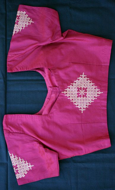 Kasuti blouse | One of my Kasuti project work during my Dipl… | Flickr