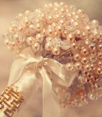 decorations, bouquet, pearl, floral, classic. Bridesmaid. Vintage.