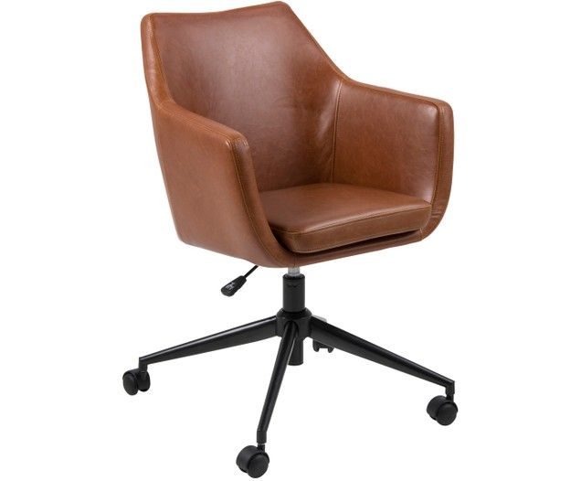 Chaise De Bureau En Cuir Synthetique Nora Ajustable Chaise Bureau Fauteuil Bureau Fauteuil Bureau Cuir